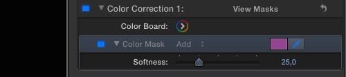 Final Cut Pro X : Color Mask - Step 1