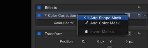 Final Cut Pro X : Shape Mask